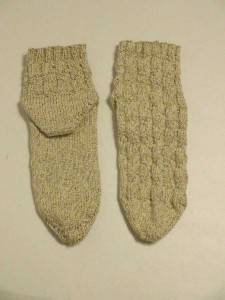 Seaweed Toe Up Socks - Heel and Toe