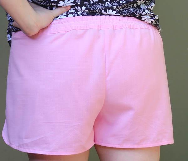 Pink Linen Nantucket - Back waistband