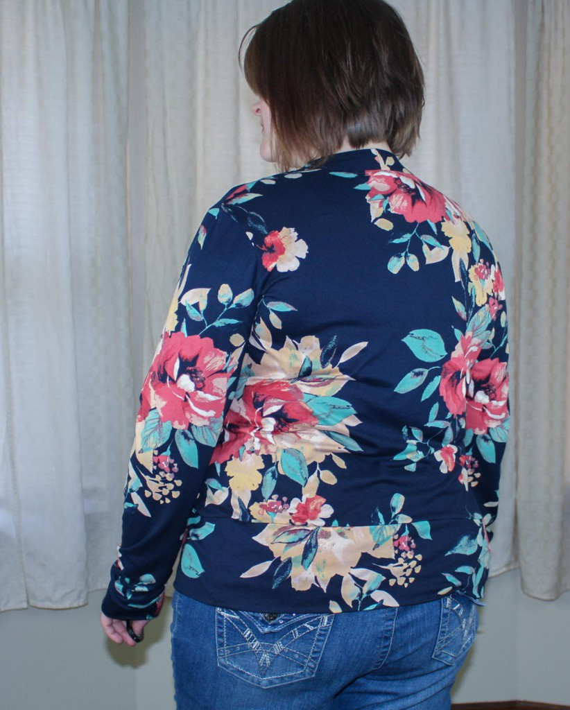 BlackWood Cardigan by Helen's Closet - Back View